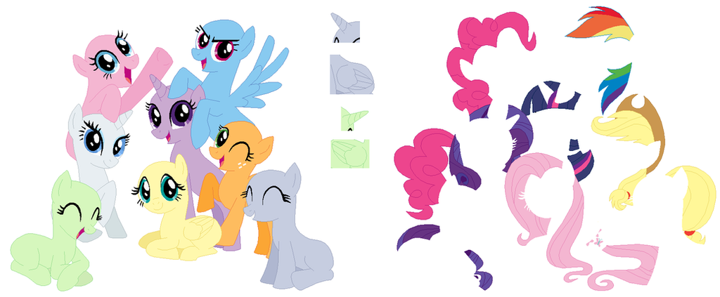 My little Pony short hair or short mane are magic by ...