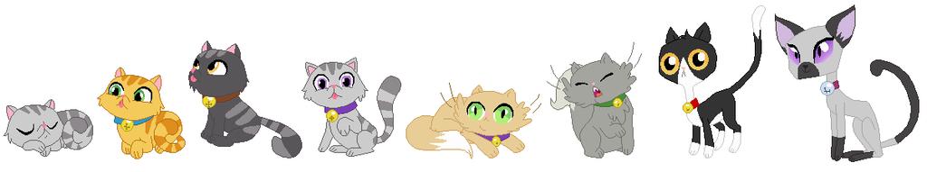 Goldie's Kitties by SelenaEde