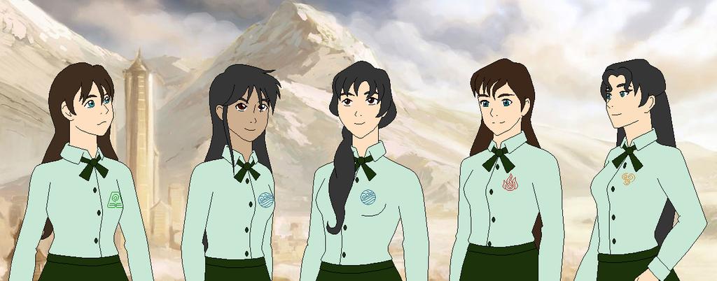 Korbur's Girls in Uniform by SelenaEde