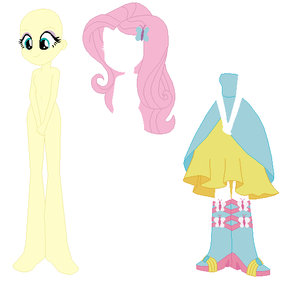 Equestria Girls Fluttershy Prom Base 02 By SelenaEde On