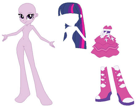 Equestria Girls Twilight Sparkle Prom Base 02 by SelenaEde