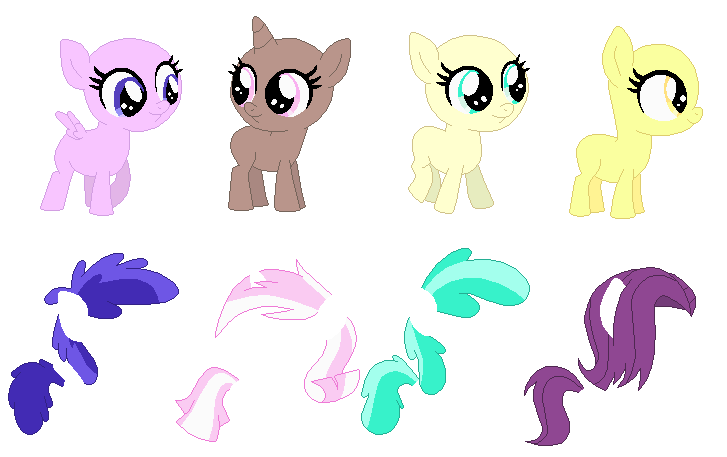 base foals selenaede tiny filly deviantart baby mane bases cloudchaser six ponies height favourites explore