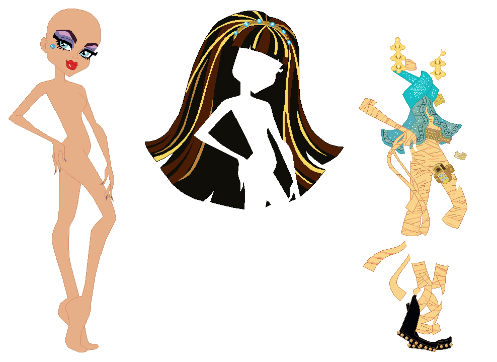 Monster High Cleo de Nile Base by SelenaEde on DeviantArt