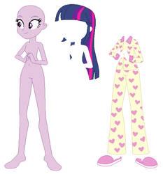 Equestria Girls Slumber Party Twilight Base by SelenaEde