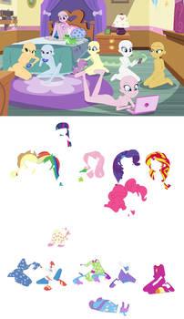 Equestria Girls Slumber Party Base by SelenaEde