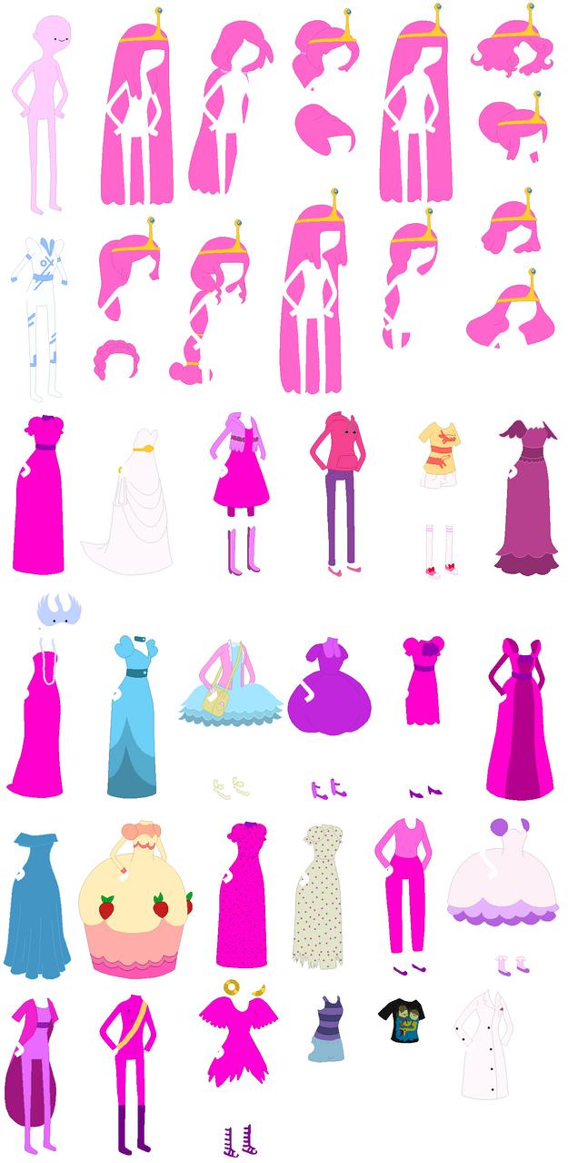 Adventure Time Princess Bubblegum Base By Selenaede On