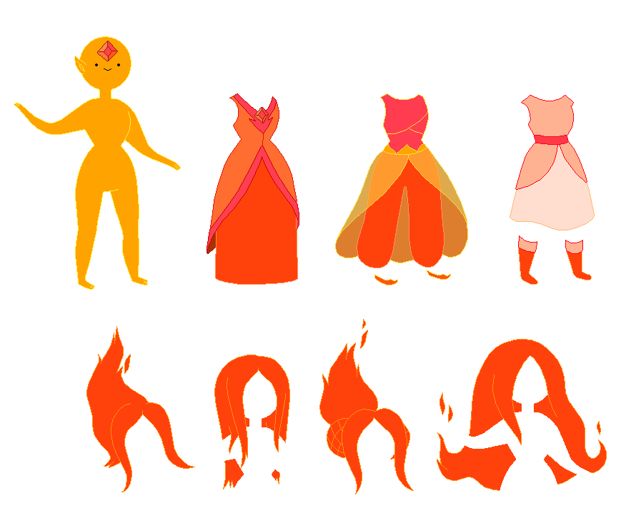 Adventure Time Flame Princess Base by SelenaEde on DeviantArt