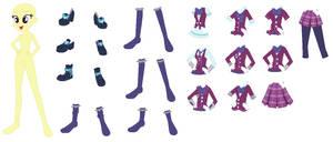 EqG Crystal Prep Uniform Mix'n'Match Base (Female)