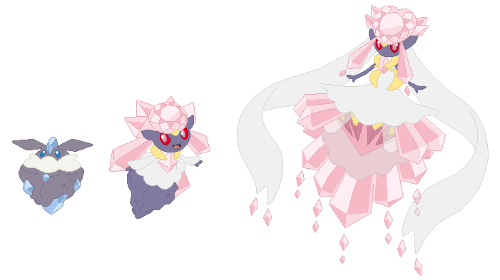 Carbink, Diancie and Mega Diancie Base by SelenaEde on ...
