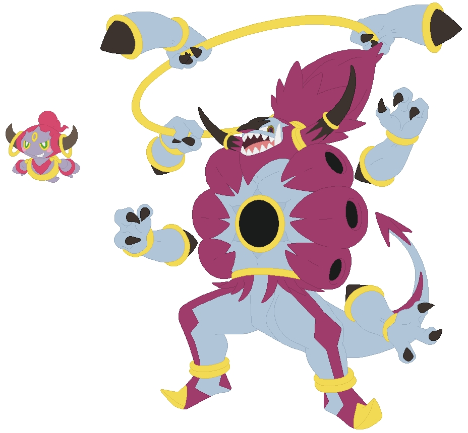 Hoopa and Hoopa Unbound Base by SelenaEde on DeviantArt