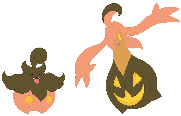 58e7a9280 Pumpkaboo and Gourgeist Base by SelenaEde on DeviantArt