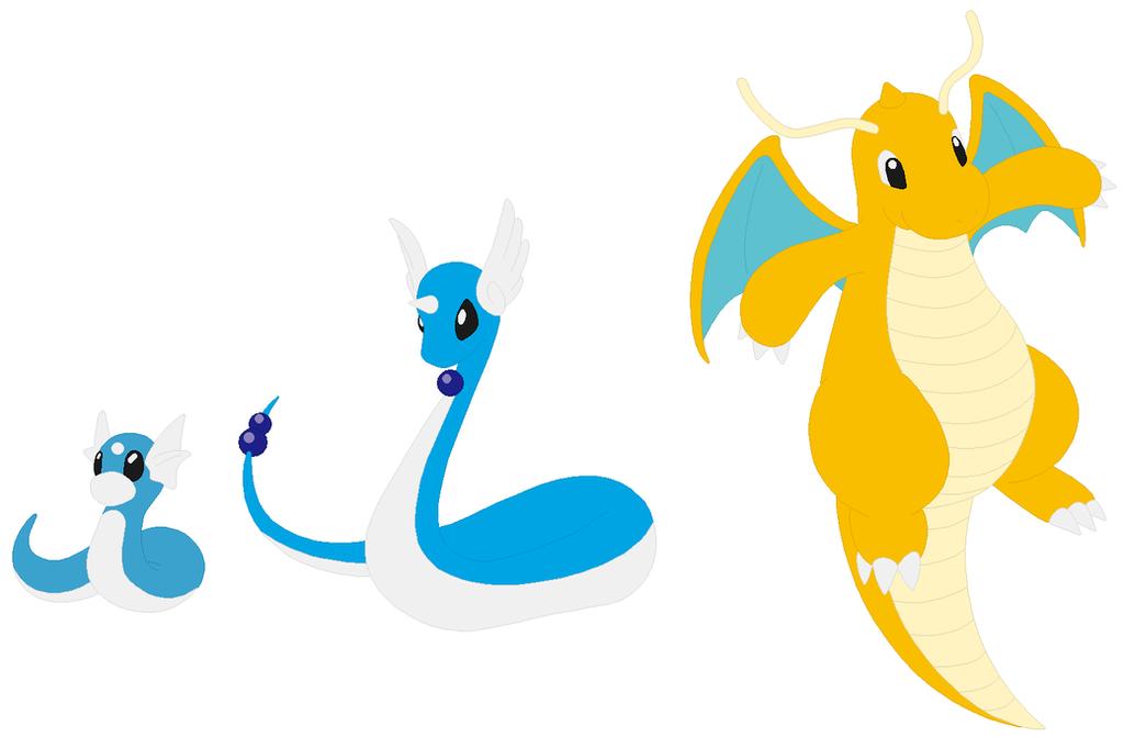 Dratini, Dragonair and Dragonite Base by SelenaEde on ...  Dratini, Dragon...