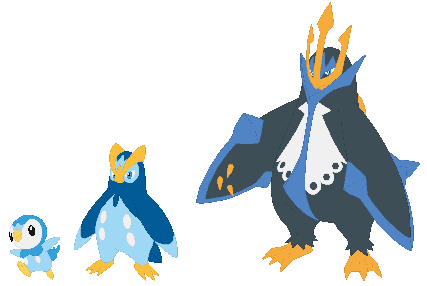 Empoleon Sprite Piplup, Prinplup and E...