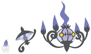 Litwick, Lampent and Chandelure Base