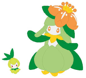 Petilil and Lilligant Base by SelenaEde