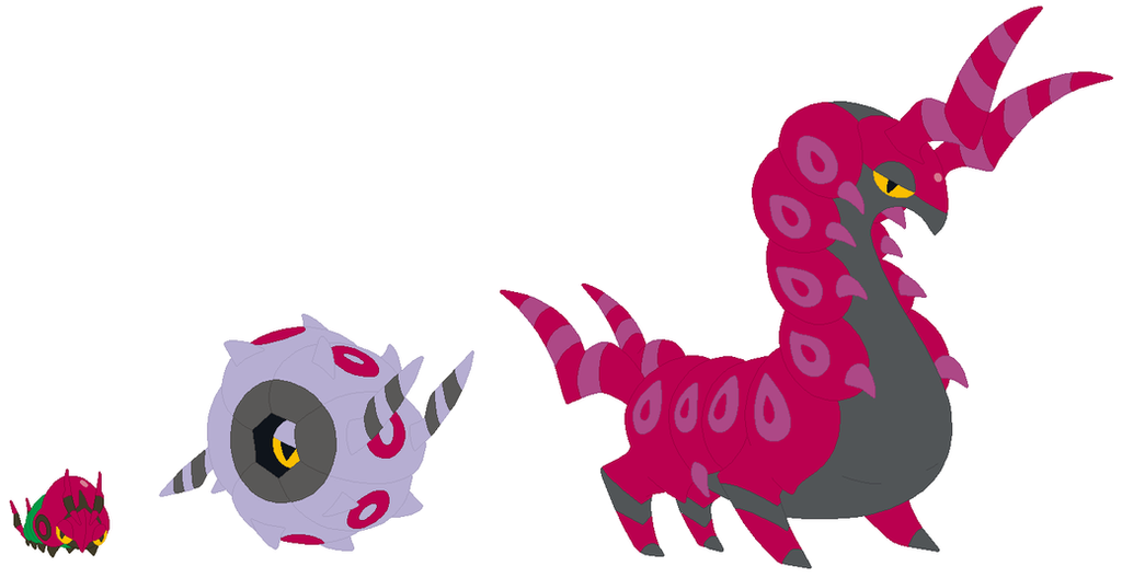 Venipede, Whirlipede and Scolipede Base by SelenaEde on ...