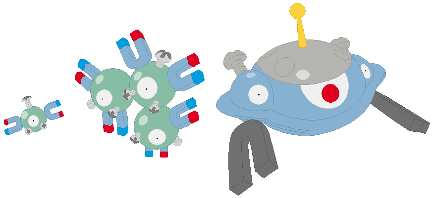 Pokemon Magnemite And Balbasur Images