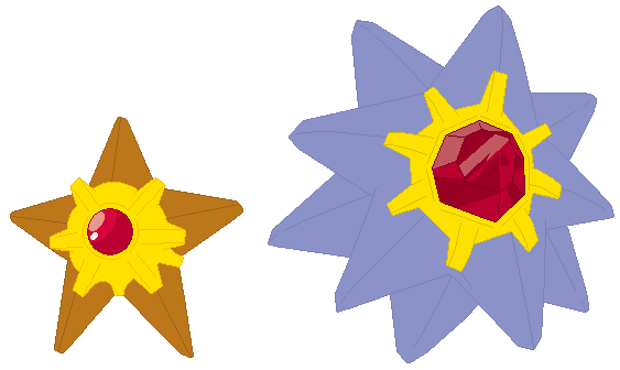Staryu and Starmie Base by SelenaEde