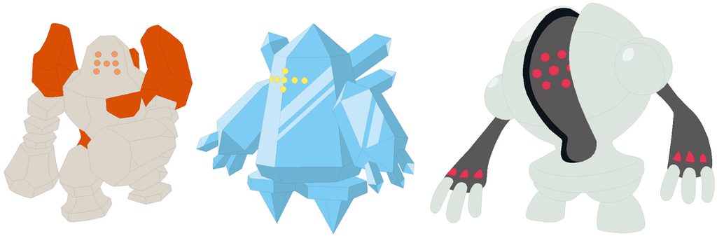 regirock regice and registeel base by selenaede on deviantart