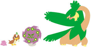 Ditto, Farfetch'd, Spiritomb and Tropius Base by SelenaEde