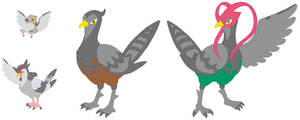 Pidove, Tranquill and Unfezant Base by SelenaEde