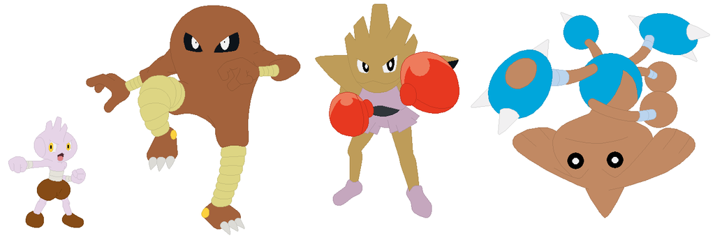 tyrogue hitmonlee hitmonchan and hitmontop base by