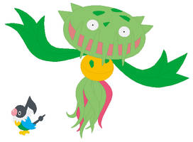 Chatot and Carnivine Base by SelenaEde