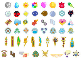 Gym Badges Base Set by SelenaEde