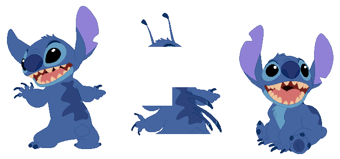 Disney - Stitch Base (with bonus Stitch) by SelenaEde