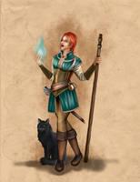 Shanja Character Design by DorotheeWittstockArt