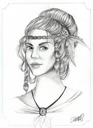 Halbelfe Portrait