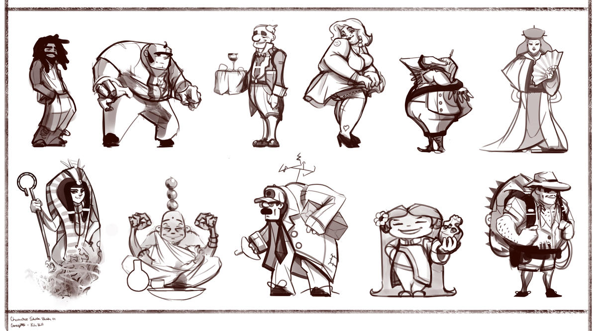 Relic Ball: Character Sketches by ScottPellico on DeviantArt