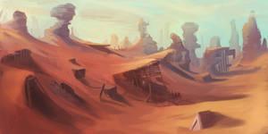 Abandoned Desert Mine Landscape