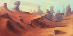Abandoned Desert Mine Landscape by ScottPellico