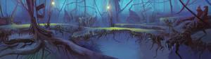 Mysterious Forest Animation BG