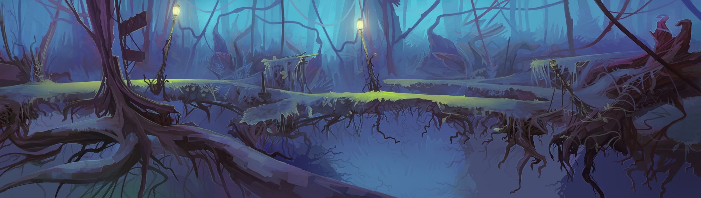 Mysterious Forest Animation BG by Appylon