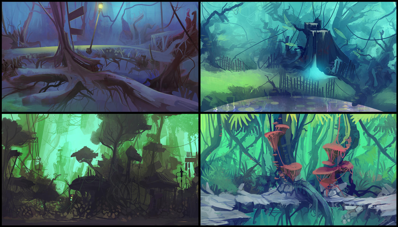 Animation BG Concepts by Appylon