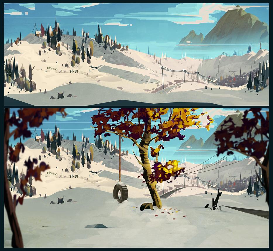 Snowscape by Appylon