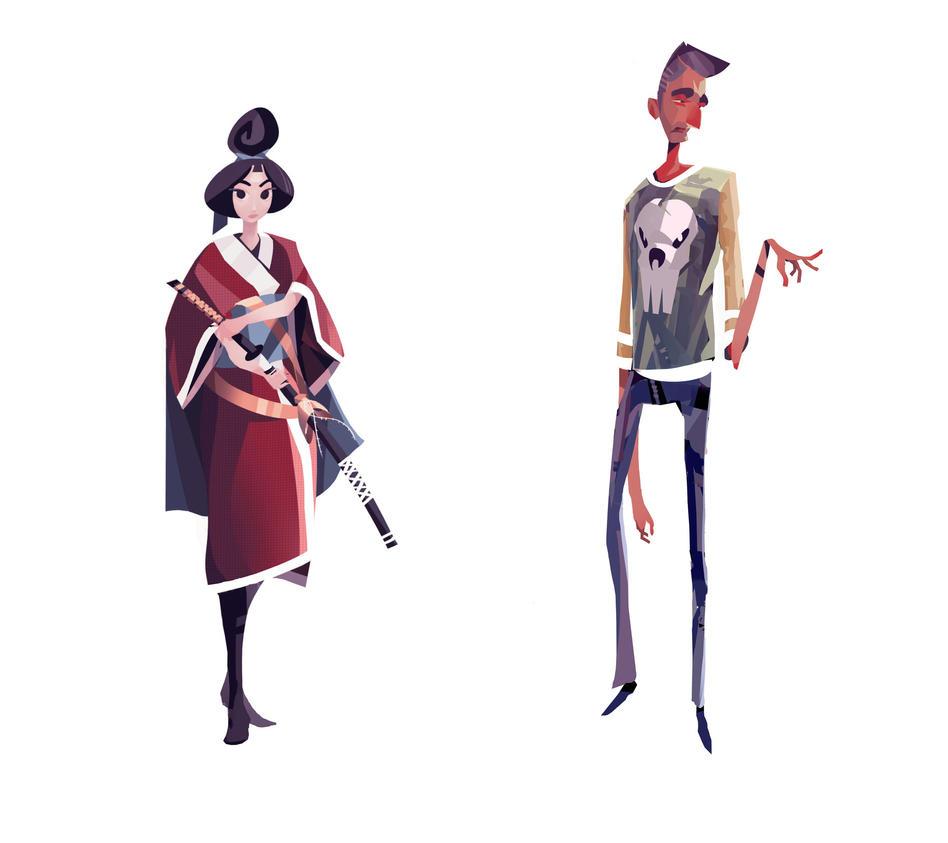 Cartoony Characters by Appylon