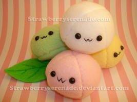 Pile of Little Mochi by Strawberryserenade