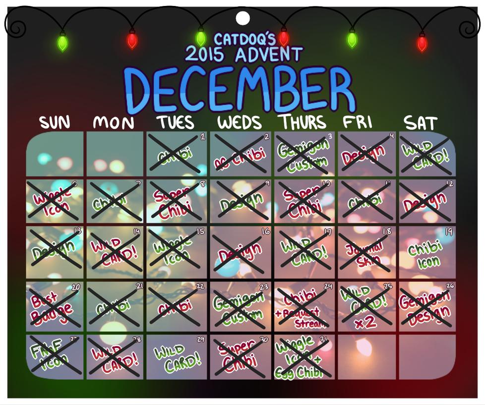 Art Advent Calendar : Art advent calendar closed by catdoq on deviantart
