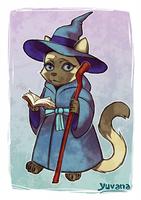 Wizard cat by yuvana