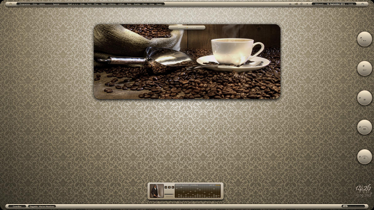 Cafe au lait - mehr Kaffee by LaGaDesk
