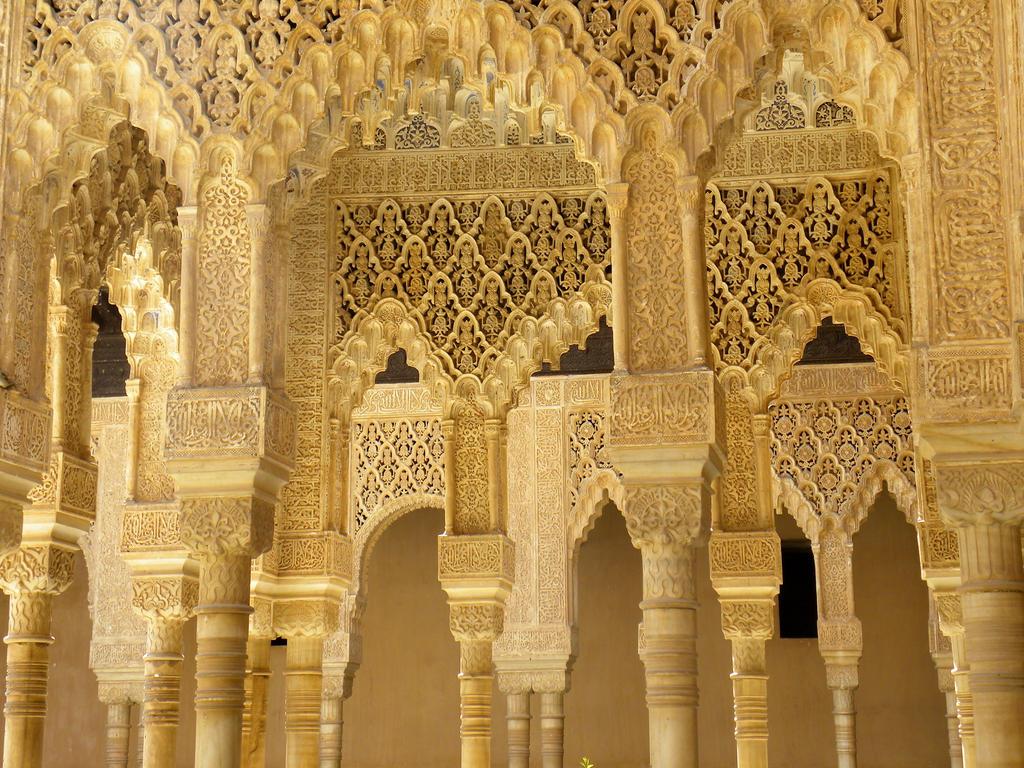 Arabesque arches and pillars, Alhambra Palace by artamusica