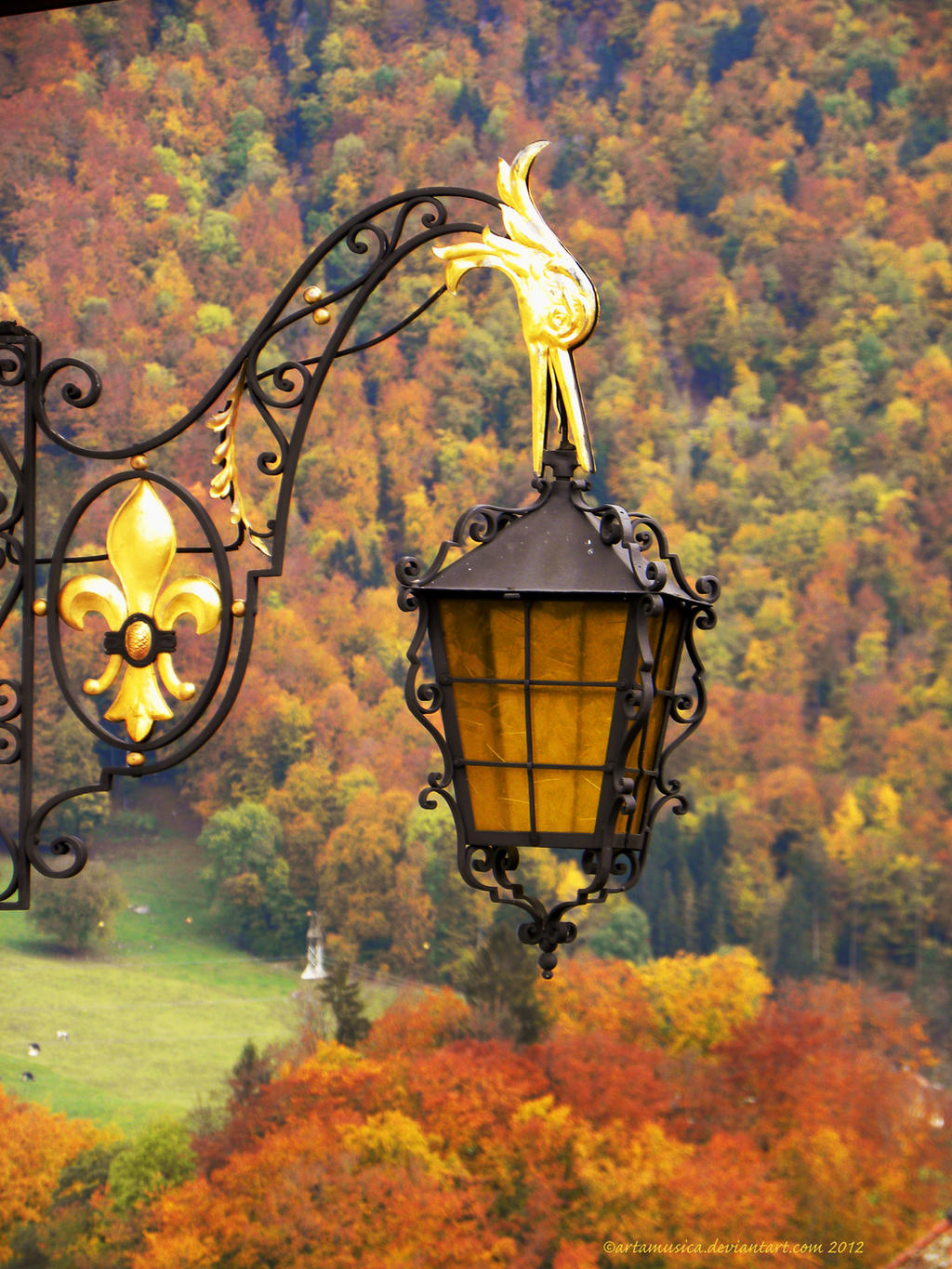 Gruyere Lantern in Fall by artamusica