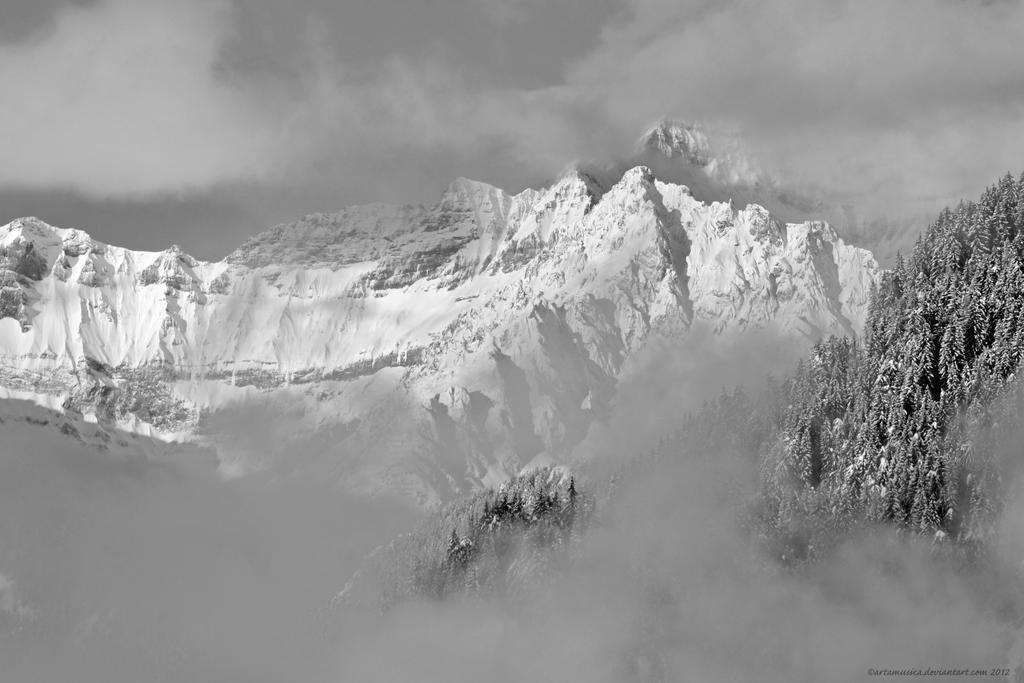 Misty Mountain Verbier by artamusica