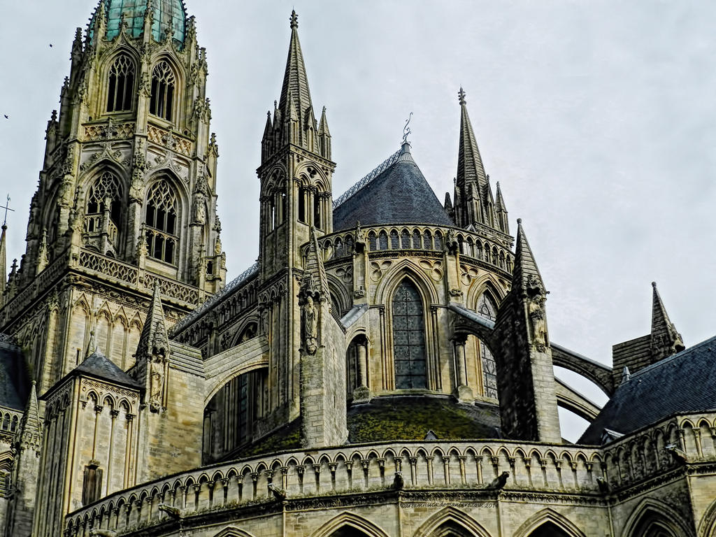Bayeux Cathedral Rooftop by artamusica