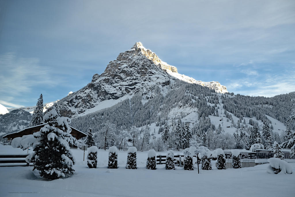 Daybreak on Birre Mountain, Kandersteg by artamusica