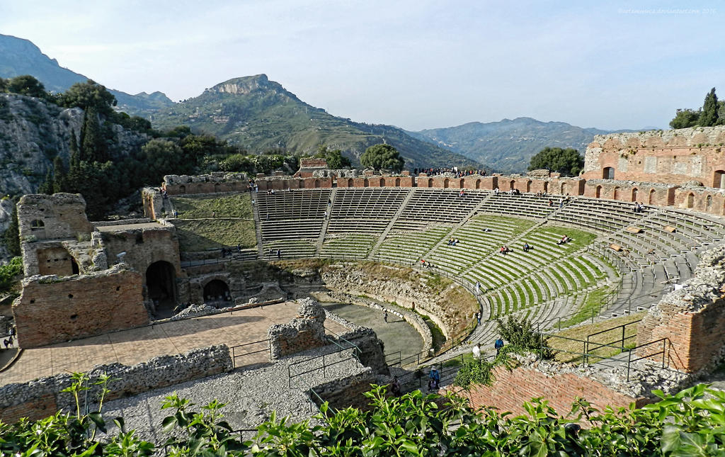 The Greek Theater at Taormina, seating by artamusica
