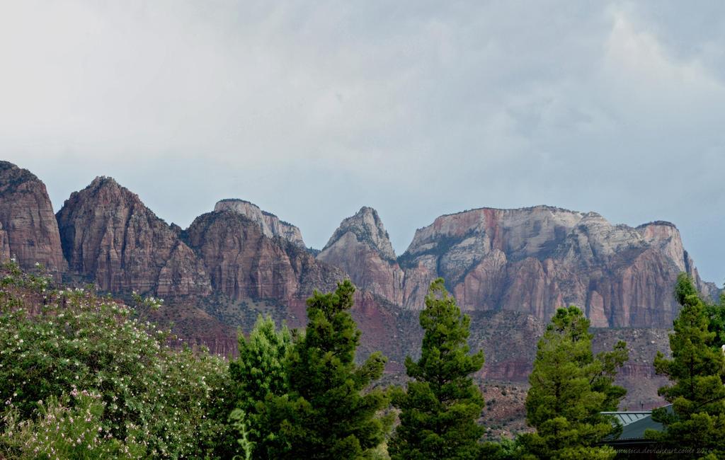 Zion peaks by artamusica